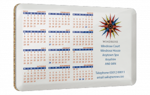 Large Metal Calendar Coasters