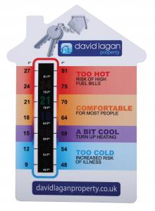 Large House Shape Temperature Gauge Cards