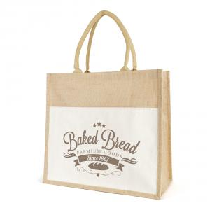 Eldon Large Jute And Canvas Shopper