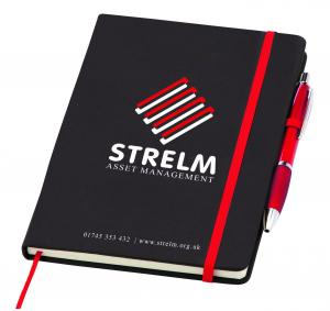 A5 Medium Noir Soft Feel Notebook with Curvy Pen